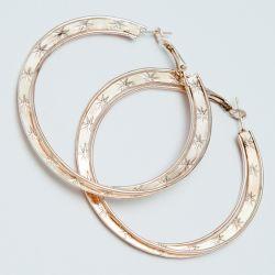 Серьги-кольца№1689 5 см цена за 12 шт оптом под золото.