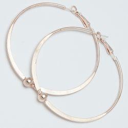 Серьги-кольца№1690 5 см цена за 12 шт оптом под золото.