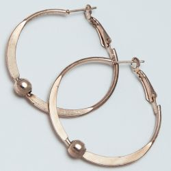 Серьги-кольца№1691 4.5 см цена за 12 шт оптом под золото.