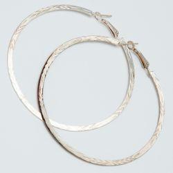 Серьги-кольца№1692 6 см цена за 12 шт оптом под золото.