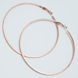 Серьги-кольца№1693 6.5 см цена за 12 шт оптом под золото.