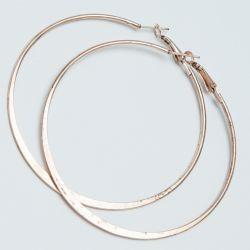 Серьги-кольца№1696 6.5 см цена за 12 шт оптом под золото.