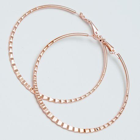 Серьги-кольца№1698 5.5 см цена за 12 шт оптом под золото.
