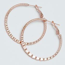 Серьги-кольца№1699 4 см цена за 12 шт оптом под золото.