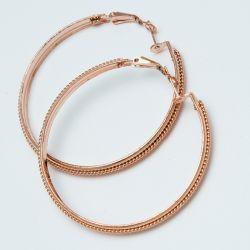 Серьги-кольца№1700 5 см цена за 12 шт оптом под золото.