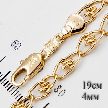 Браслет Xuping№692 19 см оптом с плетением оригинальной формы.