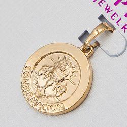 Кулон Xuping№981 оптом овальный под золото.