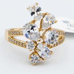 Кольцо Xuping№508 оптом с камнями белого цвета.