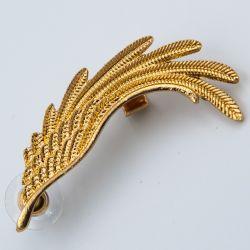 Серьги-кафа№1796 оптом под золото в форме крыла.