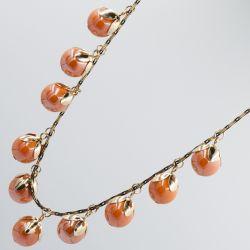 Подвеска №2473 оптом сладкие оранжевые ягоды.