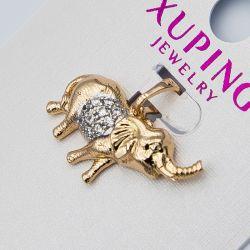 Кулон Xuping№1017 оптом в форме слона с цирконами.