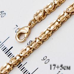 Браслет Xuping№715 17 + 5 см оптом под золото звеньевой.