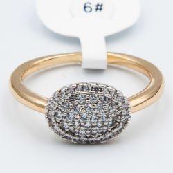 Кольцо Xuping№517 оптом с белыми камнями.