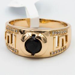 Кольцо Xuping№538 оптом с орнаментом и камнями.