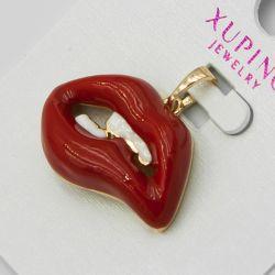 Кулон Xuping№1092 оптом губы красного цвета.