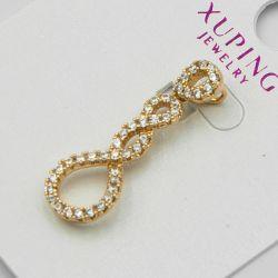 Кулон Xuping№1093 оптом перекрученный с белыми камнями.
