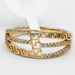 Кольцо Xuping№558 оптом с орнаментом под золото.