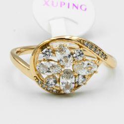 Кольцо Xuping№560 оптом с цирконами белого цвета.