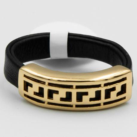 Кольцо Xuping№564 оптом черного цвета со вставкой.