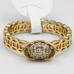 Кольцо Xuping№572 оптом интересный дизайн под золото.