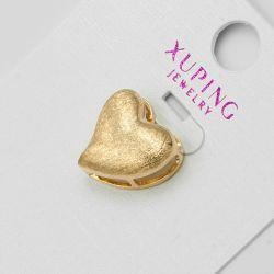 Кулон Xuping№1212 оптом в форме сердца под золото.