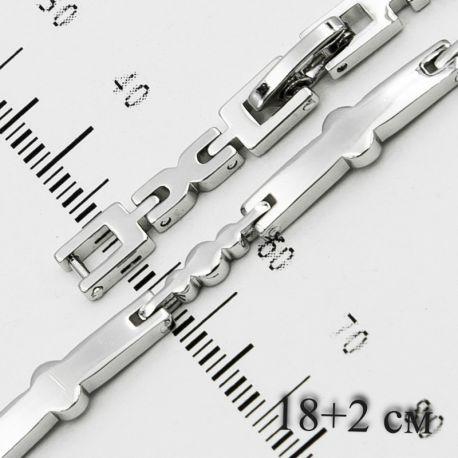 Браслет Xuping№58 19 см оптом под серебро стильный.