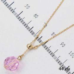 Цепочка Xuping№1159 44см с розовым кулоном оптом