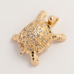 Кулон Xuping№2 оптом черепаха в мелких цирконах