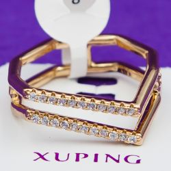 Кольцо Xuping№19 оптом геометрической формы