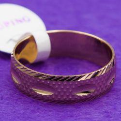 Кольцо Xuping№25 оптом гравированное под обручалку