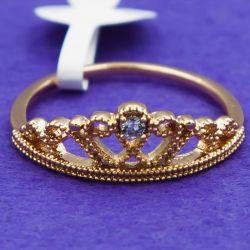 Кольцо Xuping№51 16.17.18.19.20р корона виробы з медичного золота вид виробника
