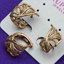 Серьги Xuping№897 в форме бабочки купить медзолото оптом