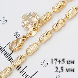 Браслет Xuping№685 с боченками под золото бижутерия Xuping медицинское золото позолотка оптом