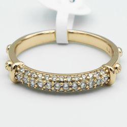 Кольцо Xuping№58 16.17.18.19.20.21 с мелкими белыми цирконами купить ювелирную бижутерию Xuping оптом от производителя