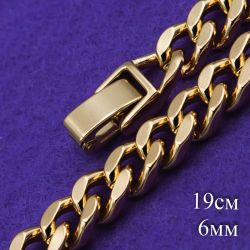 Браслет Xuping№172 19см звеньевой медицинское золото оптом купить
