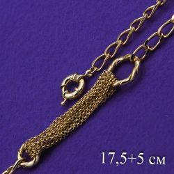 Браслет Xuping№175 17.5+5см оригинальный модный дизайн мс множественными цепочками купить медзолото оптом Украина