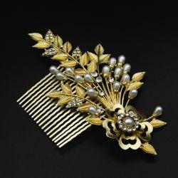 Гребешок№195 для волос под золото в интернет магазине оптом.