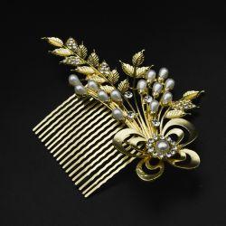 Гребешок№196 для волос под золото в интернет магазине оптом.
