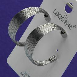 Серьги№2761 стильные под серебро от производителя оптом.