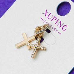 Крестик Xuping№107 с цирконами позолота в интернет магазине оптом.