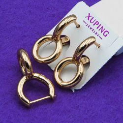 Серьги Xuping№1109 стильные под золото в интернет магазине оптом.