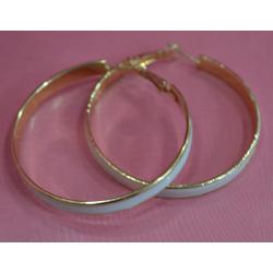 Серьги-кольца с эмалью№20