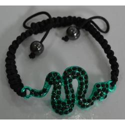 Браслет шамбала зеленая змея№415