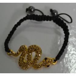 Браслет шамбала коричневая змея№421