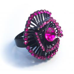 Кольцо с малиновыми камнями№10