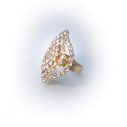 Кольцо желтое с камнями № 92