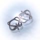 Кольцо со стразами № 132