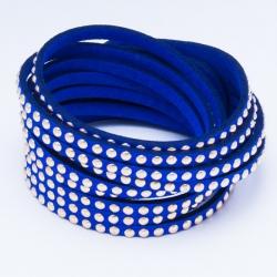 Браслет №642 оригинальной формы синего цвета.
