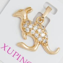 Кулон Xuping № 216 металлический кенгуру с камнями.