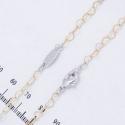 Цепочка Xuping№133 двухцветная с сердечками, длина 50 см.